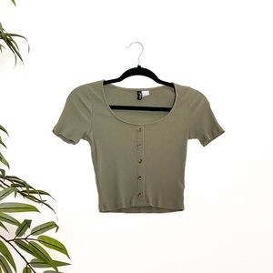 Olive green short sleeve
